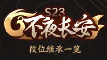 《王者荣耀》s23赛季段位继承表一览